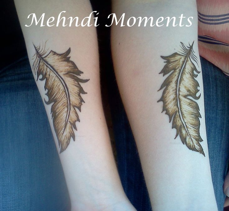 Henna feathers