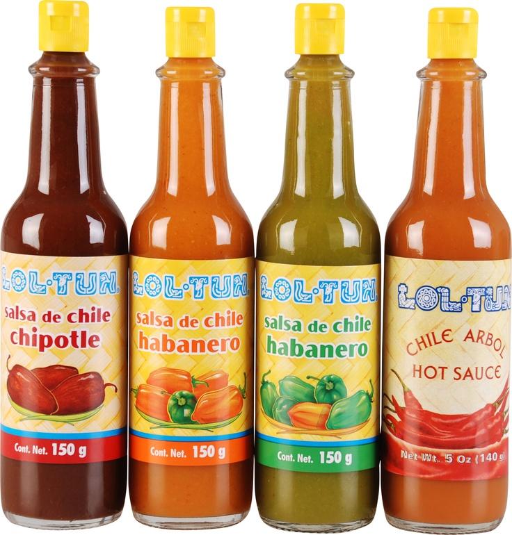Salsas Habanero, Chipotle y Chile de Arbol Lol-Tun! Que ...