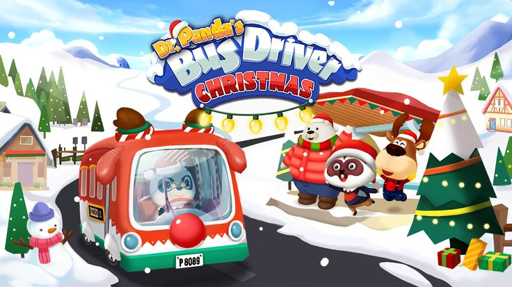 Take the wheel and step on the gas as you head down snowy roads in Dr. Panda's Bus Driver: Christmas! Dr. Panda has decorated his bus for the season, and it's up to you to drive around picking up passengers and take them to where they want to go! #Kids #Games #Apps #Free