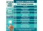 5x5 in One Team Dallas Cowboys Football Schedule