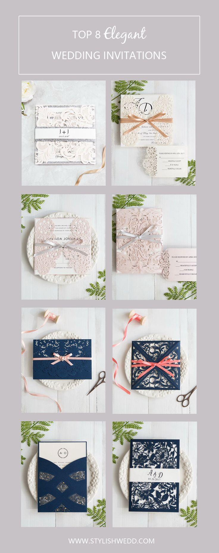 top 8 elegant wedding invitations from Stylish Wedd
