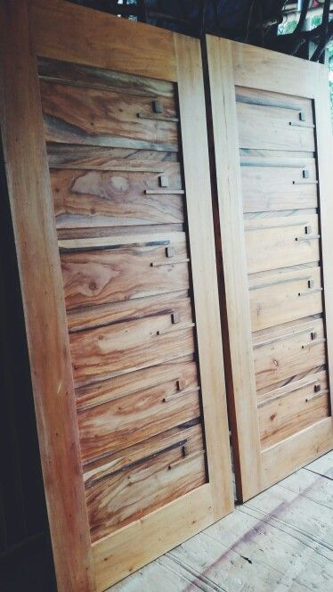 Mahogany and camachile wood Solid door modern design by dhindo de guzman Of  philippines