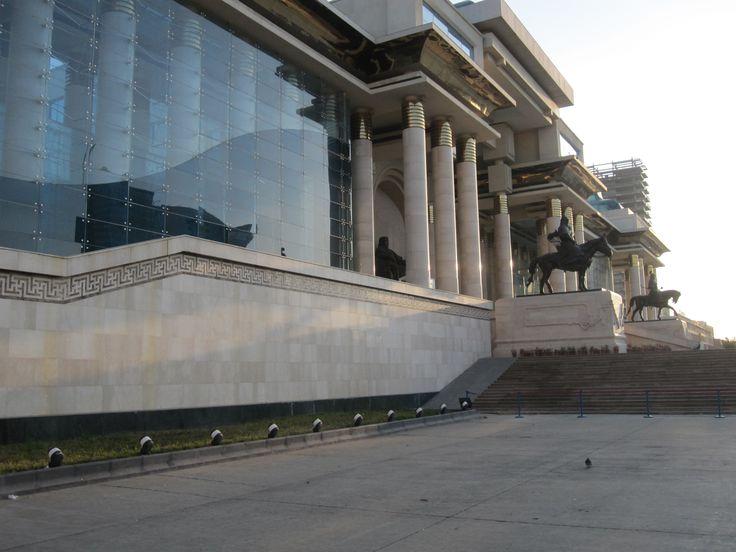 Parliament Front entrance - Sukhbaatar Square