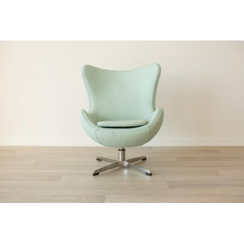 incy interiors mini egg chair mint green leather mint color inspiration pinterest mint. Black Bedroom Furniture Sets. Home Design Ideas