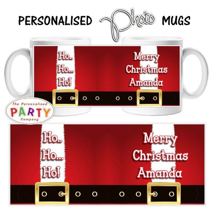 Personalised #Christmasgift mug Large 10oz Rhino Coated Mug Personalised with your text and Photo Makes a perfect present