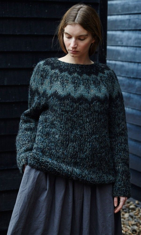Icelandic pullover | great color combination, love the marl yarn