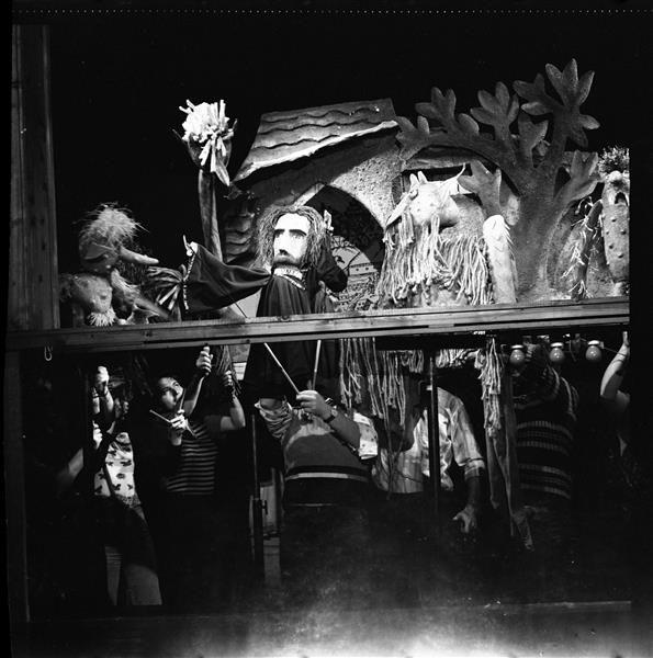 """Carl Schröder – """"Das Puppenspiel vom Dr. Faust,"""" Puppentheater Magdeburg, 1976/77"""