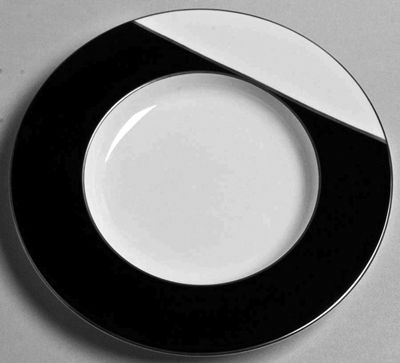 J.L Coquet -Twiggy B&W Platinum Rim Soup Plate   Twiggy Black & White Platinum Rim Soup Plate  by J.L. Coquet  Diameter 10.5  SKU: 604350008...