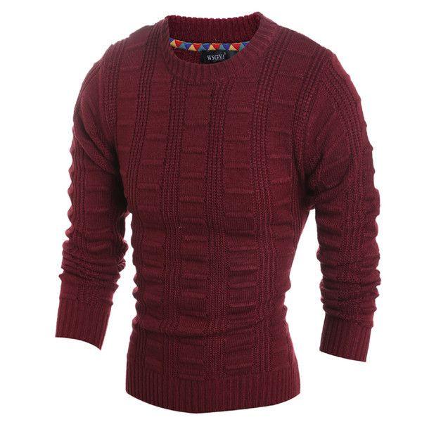 Mens Slim Pullover Sweater