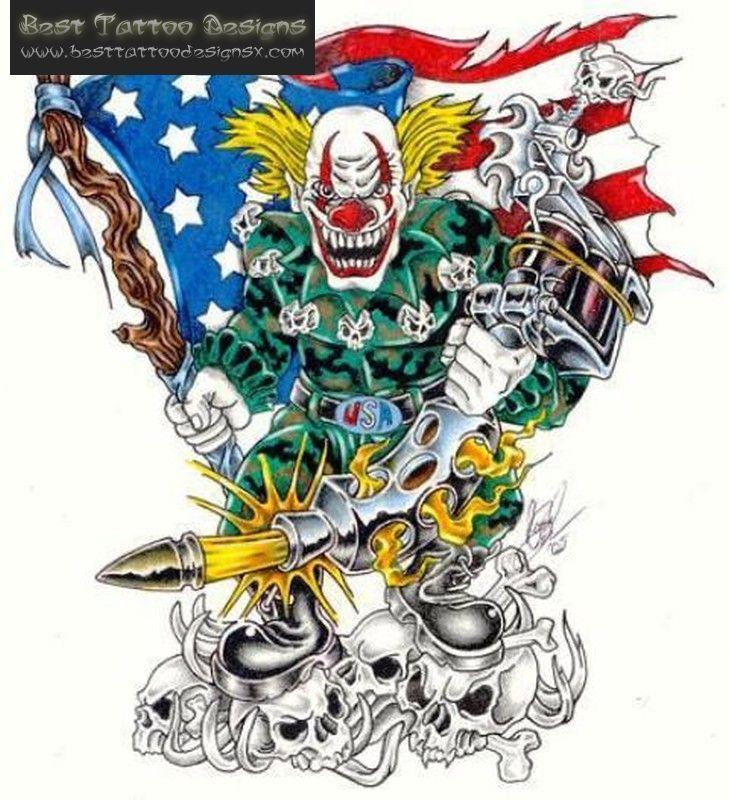 25+ Bästa Idéerna Om Clown Tattoo På Pinterest