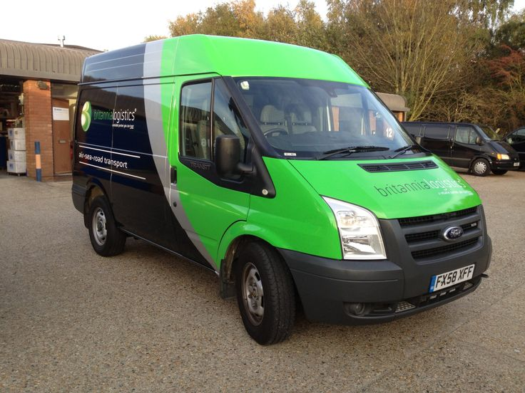 Ford Transit Vinyl Wrap With Sign Writing And Digital