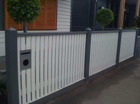 Fence Designs by JND Timber  Steel  garduri  Front yard