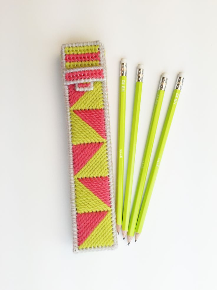 Back to School Pencil Case/ FREE PLASTIC CANVAS pattern