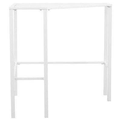 Keylon Metal/Glass Corner Desk - White - Aiden Lane
