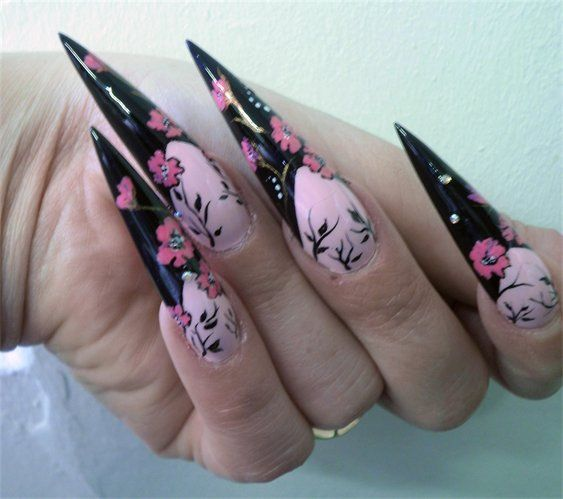 nail art long nails design