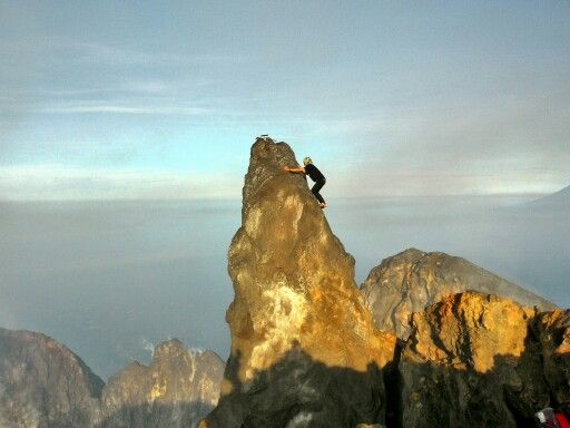 Top of mt.Merapi