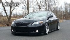 Wheel Offset 2009 Toyota Camry Aggressive 1 Outside Fender Dropped 3 Custom Rims