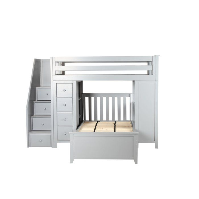 Best Desilets Staircase Combo Twin Over Twin Loft Bed In 2019 400 x 300