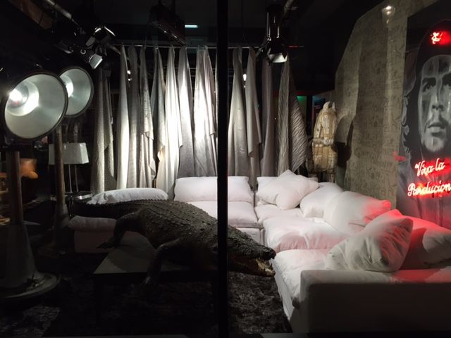 #andrewmartin #sectional #fabric #white #textiles #lights #studio #showroom #homedecor