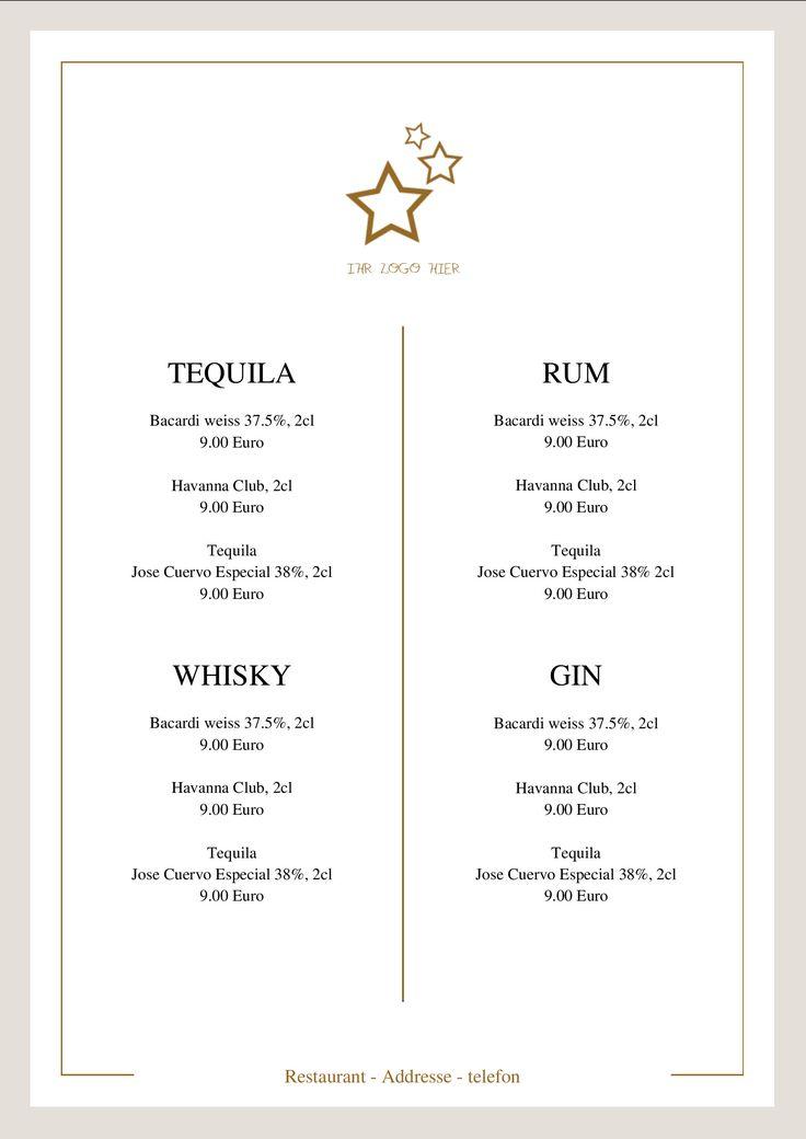 70 besten menu card todays menu speisekarte tageskarte