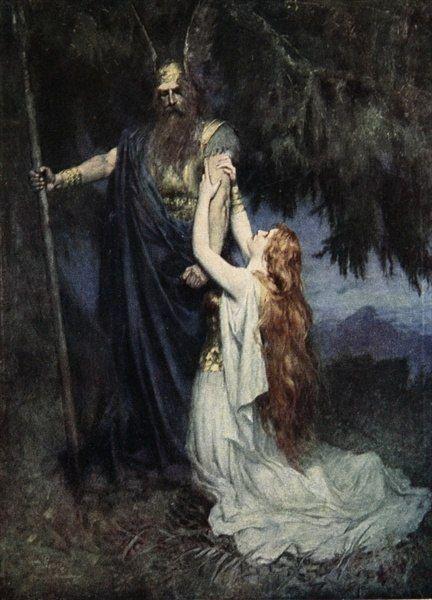 Ferdinand Leeke Odin And Brunnhilde Viking ReligionFerdinandArt