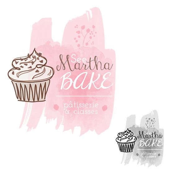 Watercolor Logo Design and Branding by LaCatrinaArt on Etsy