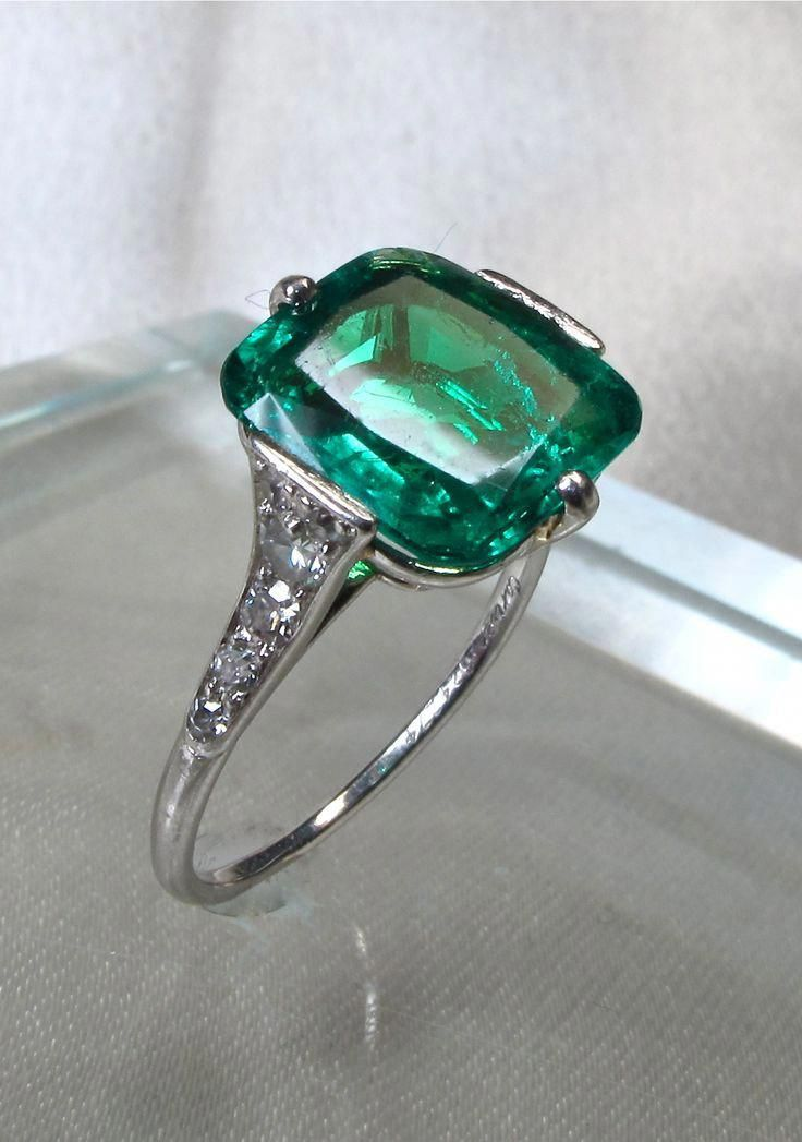 Vintage Emerald Engagement Ring Uk