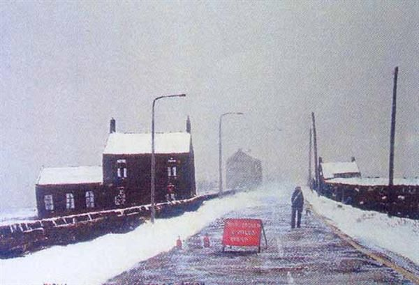 Notice One Mile Ahead By Peter Brook | Peter Brook Prints and Originals