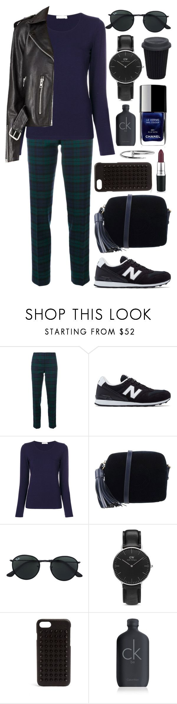 """Untitled #988"" by clary94 ❤ liked on Polyvore featuring P.A.R.O.S.H., New Balance, Le Tricot Perugia, Anya Hindmarch, Ray-Ban, Daniel Wellington, Chanel, Christian Louboutin and Calvin Klein"