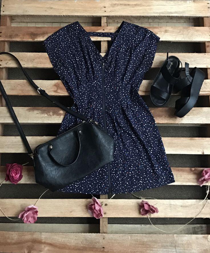 Vestido azul  Disponible en todas las tallas