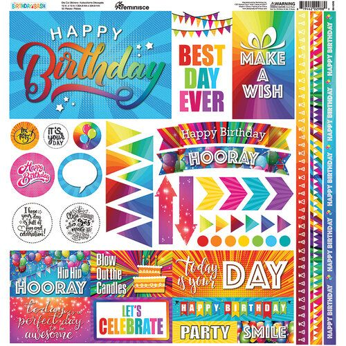 Reminisce Birthday Bash Collection 12 x 12 Cardstock