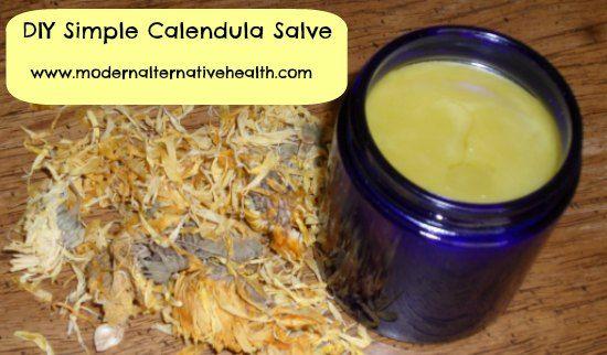 Simple DIY Calendula Salve Recipe http://herbsandoilshub.com/simple-diy-calendula-salve/  This post explains the benefits of calendula and how to make a healing salve with it.