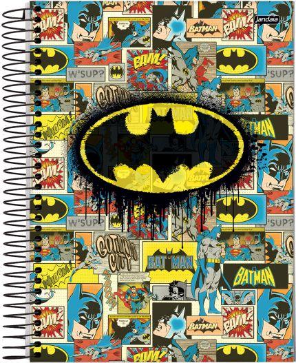 Caderno Espiral Universitário Capa Dura 1X1 96 Folhas - Dc Comics Batman VAC17 - Capa única