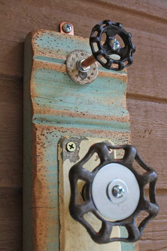 Blue Green Coat Rack Garden Faucet Handle Door