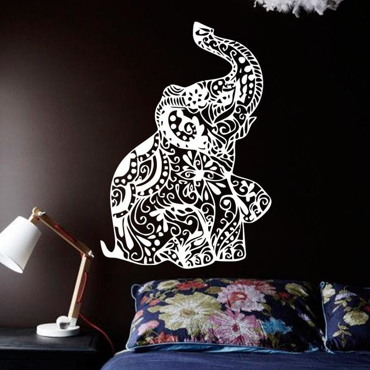 Add Some Gypsy Vibes To Your Space With Our Elephant Wall Sticker This Bohemian