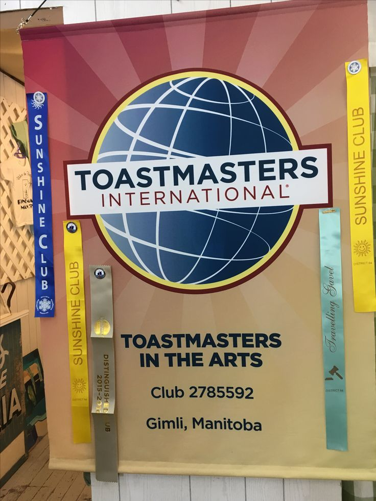Having ribbons on your banner helps give members pride in their #Toastmasters club.