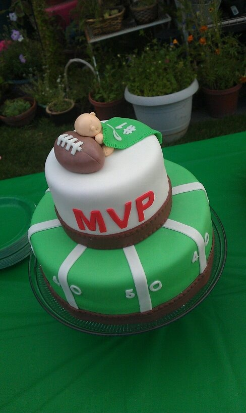 Future MVP - Future MVP Football Cake for my cousin's wife's baby shower.  All MMF decoration.