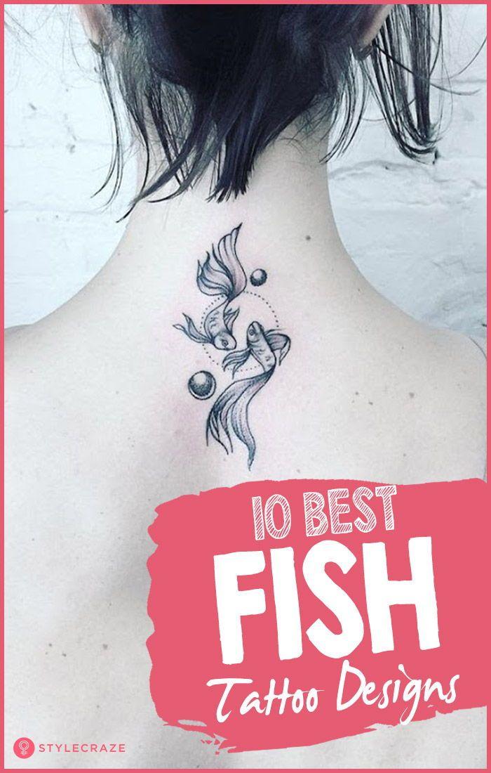 757b9af57 Best Fish Tattoo Designs - Our Top 10 #tattoo #designs #tattooart #bodyart