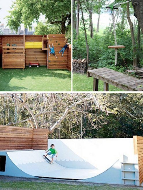Backyard Skatepark Ideas :  Backyard Diy, Backyard Paradise, Ziplin Backyard, Backyard Gardens