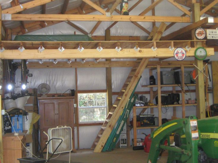 57 best images about shop and garage on pinterest wood for How to build a garage loft