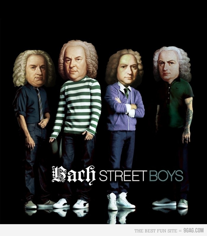 Bach Street Boys. My students would so not get this but I found it so funny!