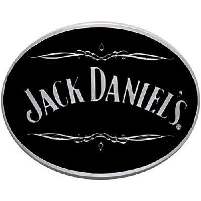 Jack Daniels Black Enameled Oval Scroll Belt Buckle