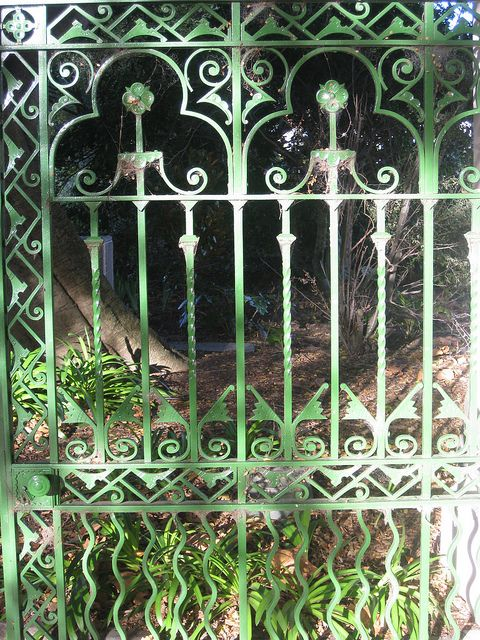 Detail of High Street Entrance Gates of the Victoria Gardens - Prahran