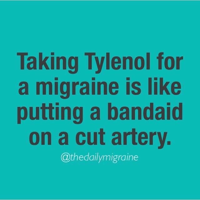 NOT FOR CHRONIC MIGRAINES. However when you don't have pain killers on you it helps.