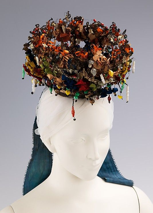 Bavarian wedding headdress, late 19th century