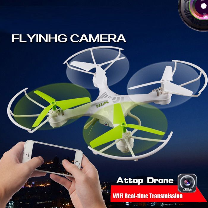 ATTOP YD212 6-axis Gyro 2.4G 0.3MP Camera RC Quadcopter with WIFI Real-time Transmission Headless Mode