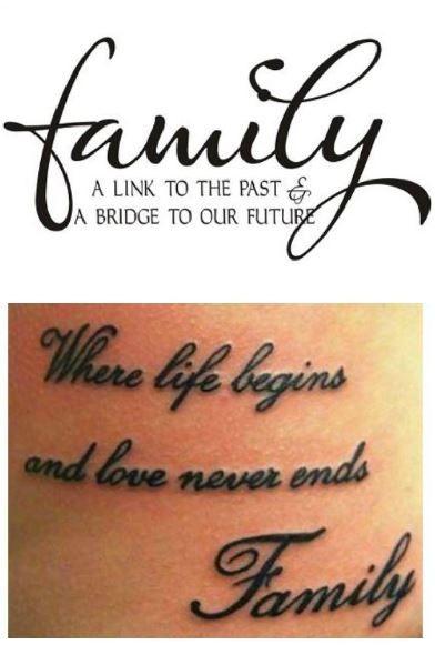 Frasi da tatuare sulla famiglia