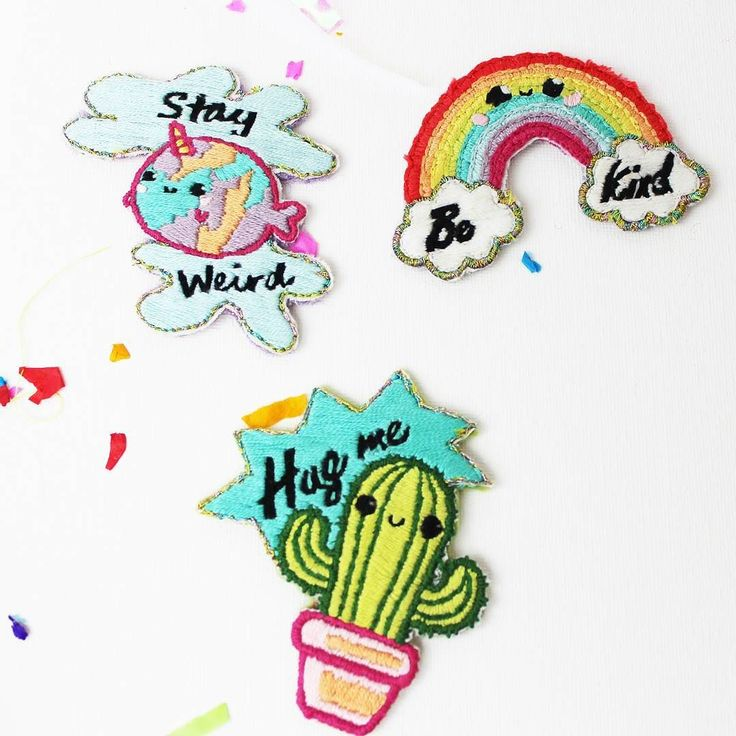 Why not up your patch game and embroider your own rainbow narwhal or cactus patch?! All of these cute patches from @ellbieco are available to buy right now