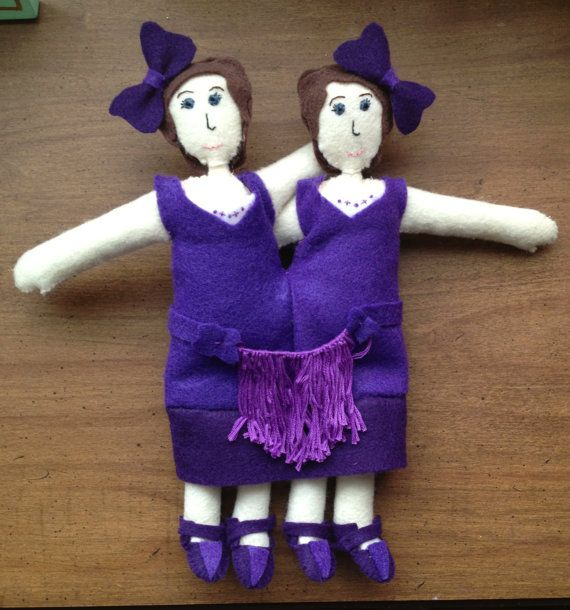 Daisy and Violet Hilton art doll