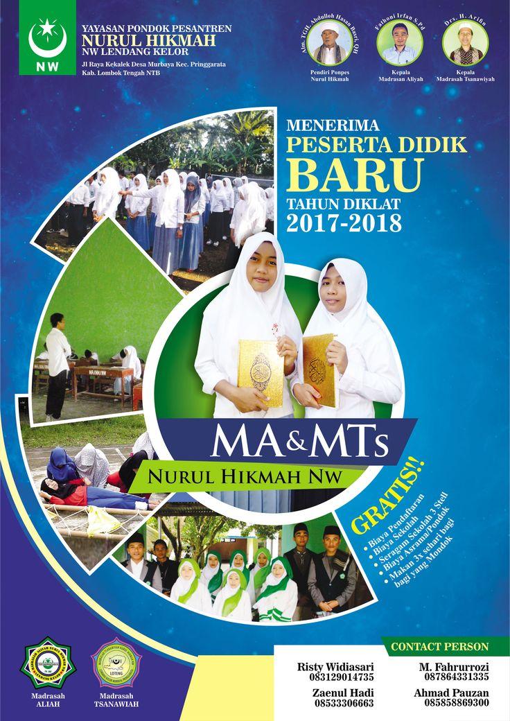 Poster Sekolah Client : MTs Nurul Hikmah - Lombok NTB